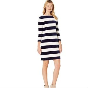 Ralph Lauren Velour Striped Midi Dress Size Small